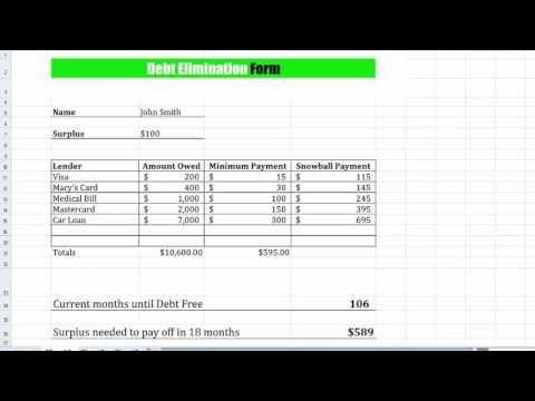 How to Use the Debt Snowball Method to Pay Off #Debt - YouTube - debt calculator spreadsheet