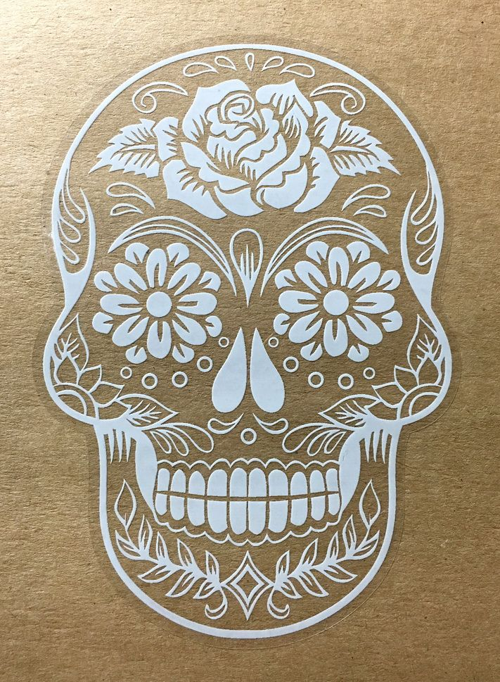 Sugar skull version 38 day of the dead vinyl wall home decor car window decal bumper