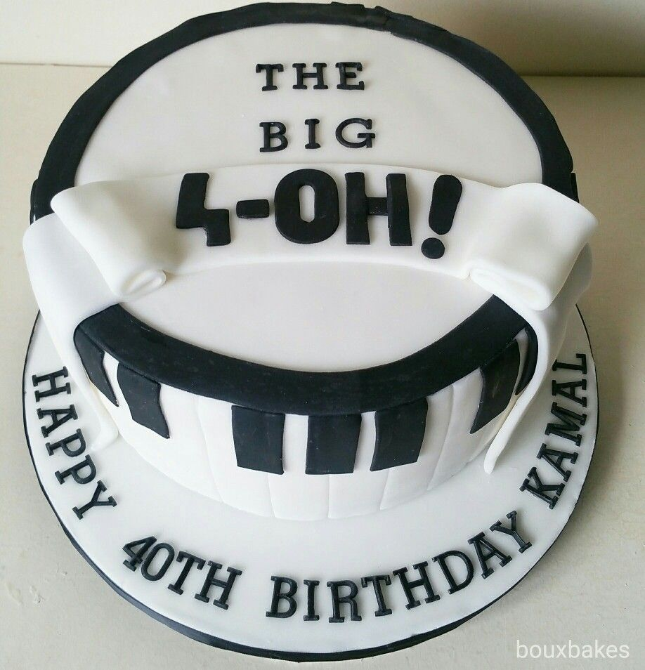 The Big 4 Oh Musical 40th Birthday Cake 40th Birthday Cakes