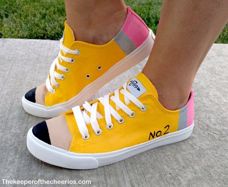 293c06a09acdf DIY Pencil Shoes | PHashion PHun | Pencil shoes, Teacher shoes ...