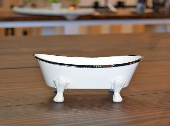 Mini Enamel Bathtub Soap Dish | Bath Decor | Pinterest | Bath decor ...