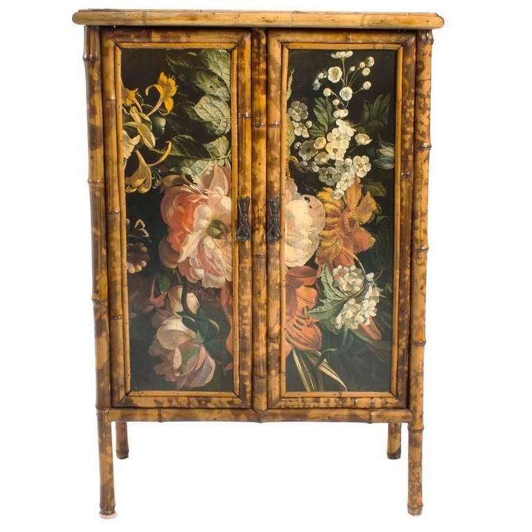 Decoupage Bamboo Cabinet | Bamboo cabinets, Decoupage ...