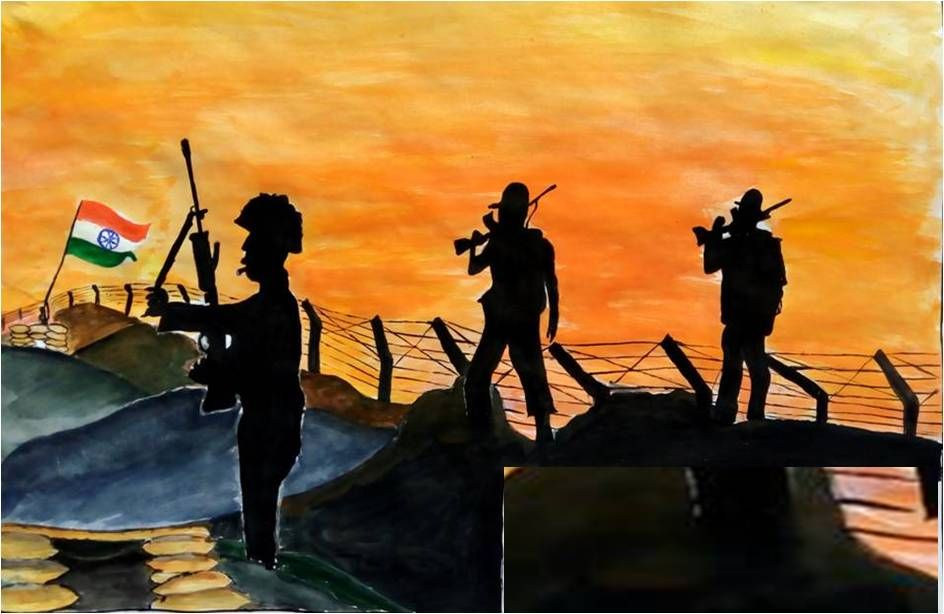 Adg Pi Indian Army On Drawing Competition Online Painting Army Poster