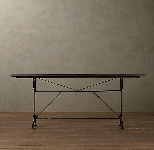 60 Factory Zinc Cast Iron Rectangular Dining Table
