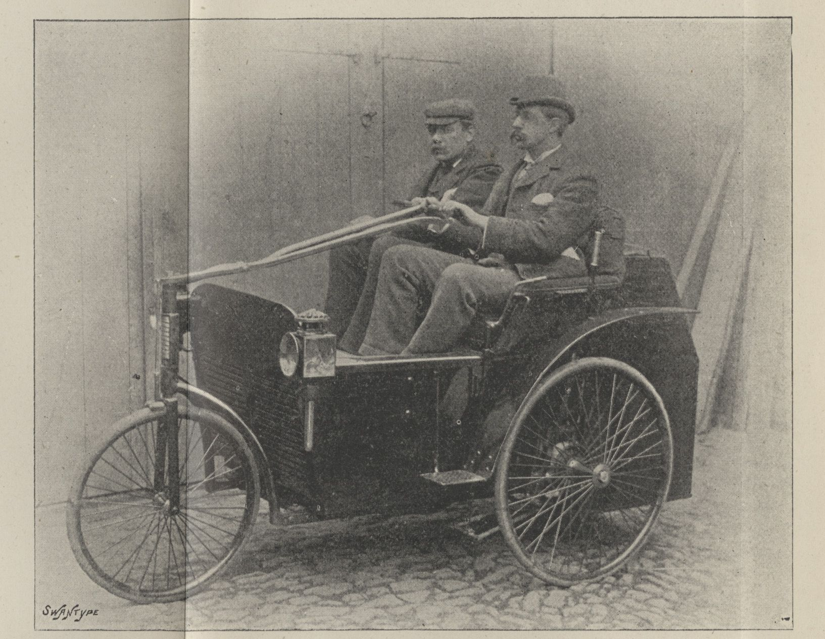 The first motor carriage propelled by a petroleum motor made in ...