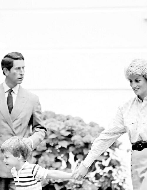 Charles, Diana and William.
