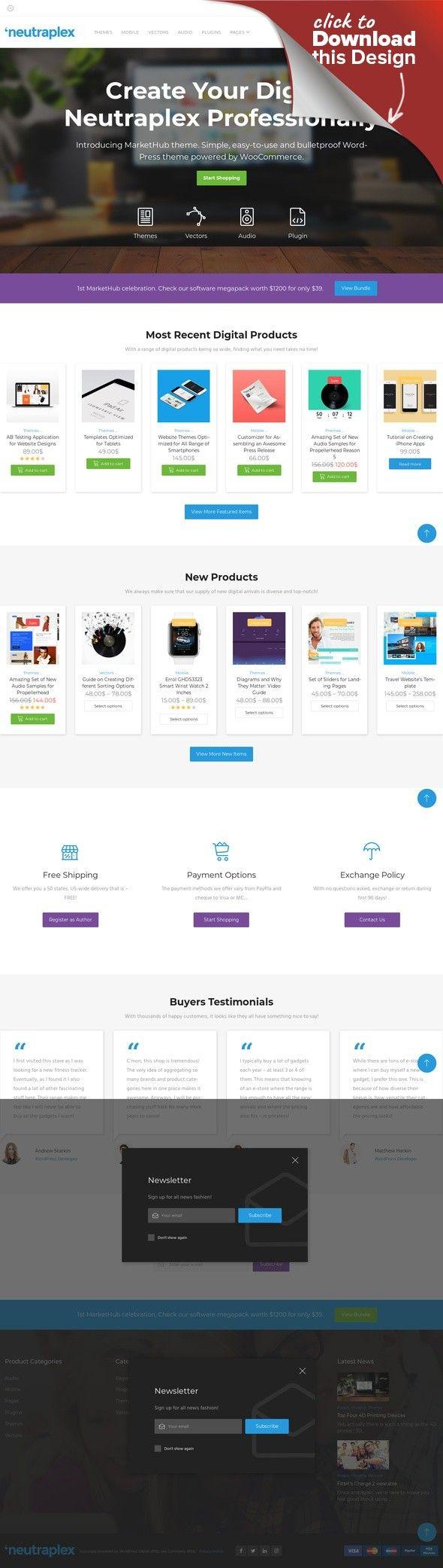 Responsives WooCommerce Theme für Web Entwicklung E-commerce ...