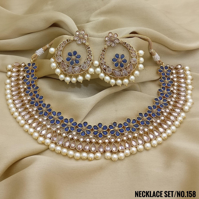 Rasrava Antique Polki Necklace Set Party Wear Necklace Set Rama