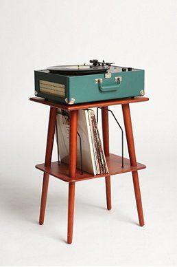 ooh i like this even better, will paint legs--brass or bright!  that's even my exact record player on top! Manchester Media Stand