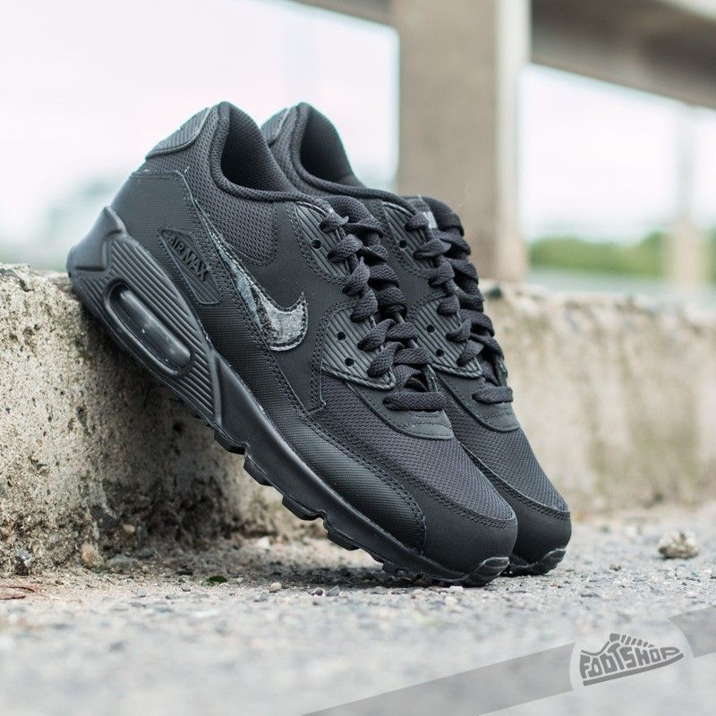 nike air max 90 gs Noir Blanc Gris Chaussures  on sale