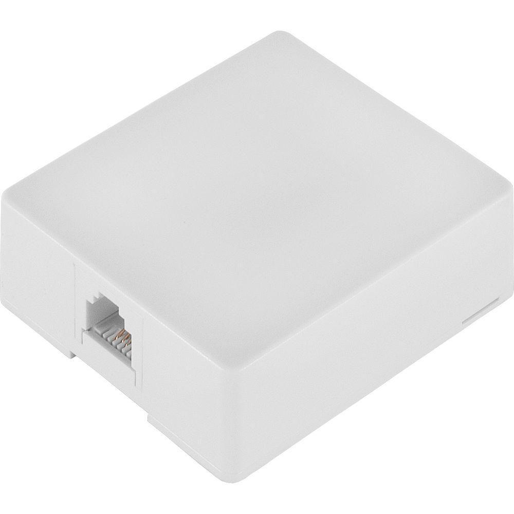 power gear surface mount wall jack white [ 1000 x 1000 Pixel ]