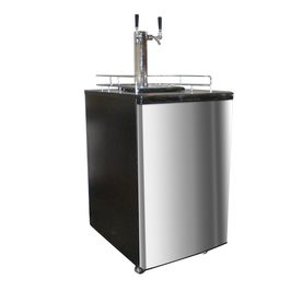 Nostalgia Half-Barrel Keg Stainless Steel Manual Freestanding Kegerator Krs-6100Ss