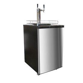 Nostalgia Half-Barrel Keg Stainless Steel Manual Freestanding Kegerator Krs-6100Ss