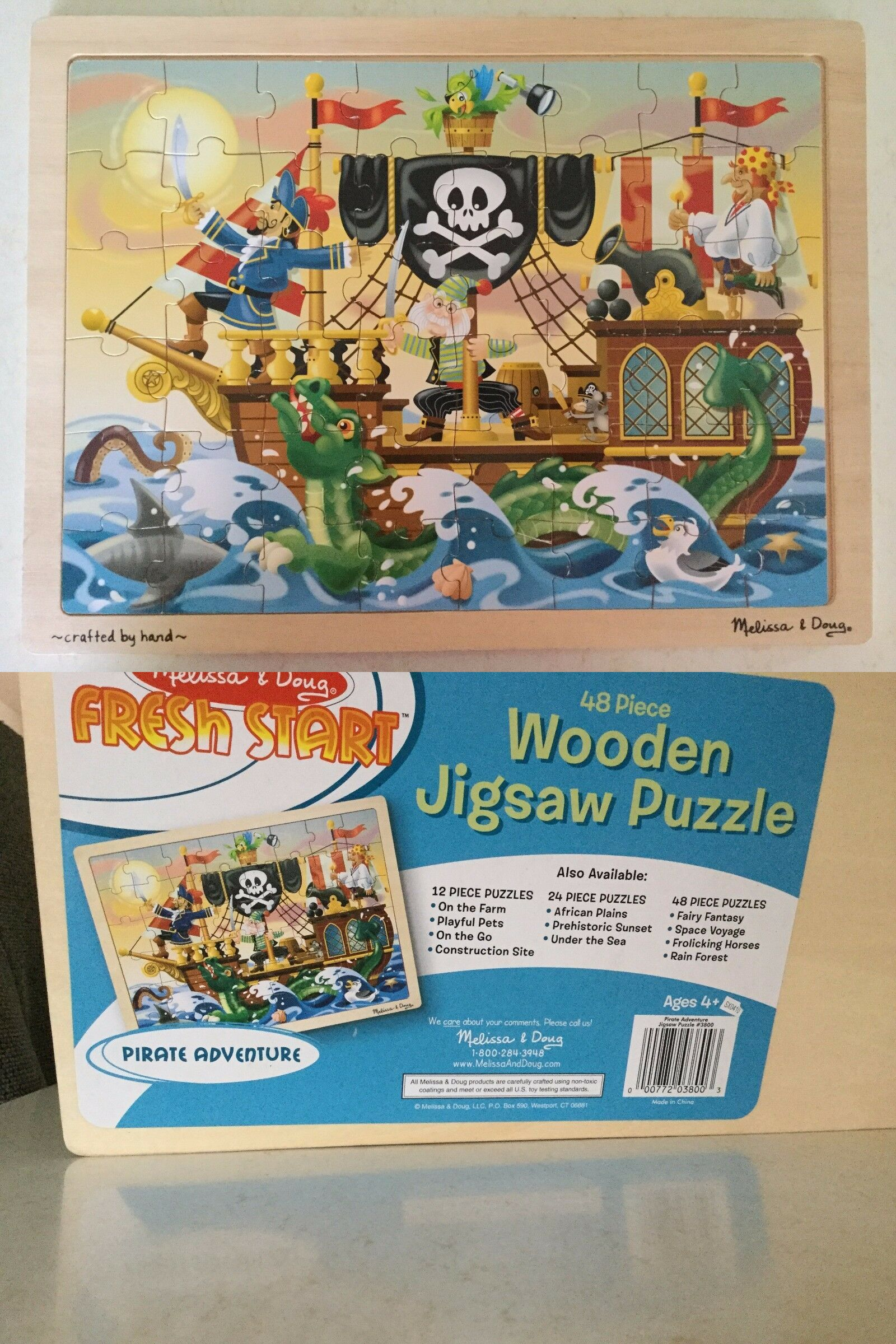 1b2f4ae0f94c6 Puzzles 146076  48 Piece Wooden Jigsaw Puzzle Pirate Adventure Melissa And  Doug Fresh Start -