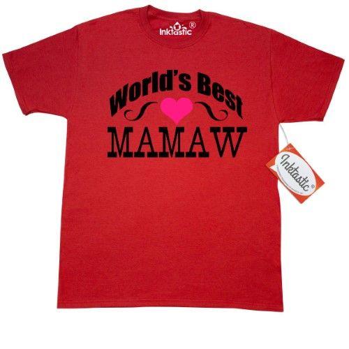 9ae4d1645 Inktastic World's Best Mamaw T-Shirt Mom Dad Aunt Grandma Mens Adult  Clothing Apparel Tees T-shirts, Size: XXXL, Red