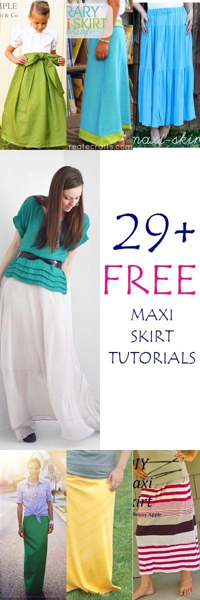 Maxi Skirts Free Sewing Patterns and Tutorials | Nähen, Nähideen und ...