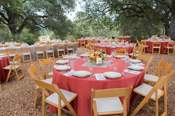 Real Weddings Rentals And Linens From Encore Events Wood Folding Chair Wedding Table Linens Wood Folding Table