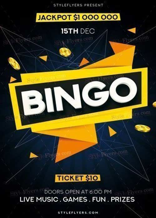 Download Bingo V14 2017 Psd Flyer Template Free Download Bingo V14