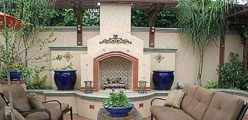 Spanish Patio Ideas | See More Spanish Style Fireplace Designs