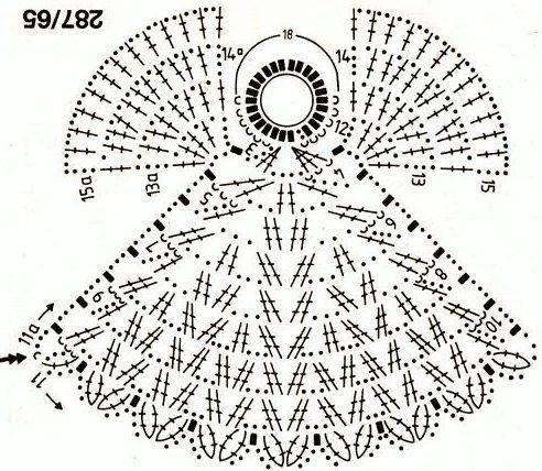ngeles tejidos a crochet1.jpg | puntadas de crochet | Pinterest | Es ...