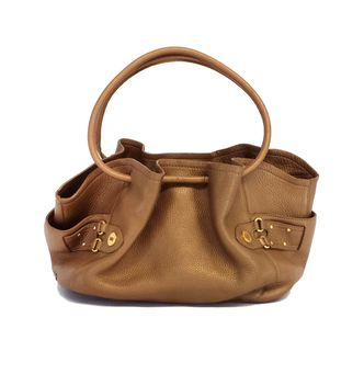 Cole Haan Bronze Leather Cinched Tote Bag