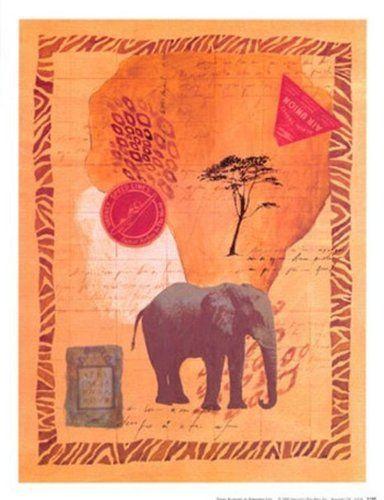 Travel Elephant - Poster by Fernando Leal (10 x 13) by The Poster Corp, http://www.amazon.com/dp/B0072WNTJI/ref=cm_sw_r_pi_dp_xhBvsb030EKNQ
