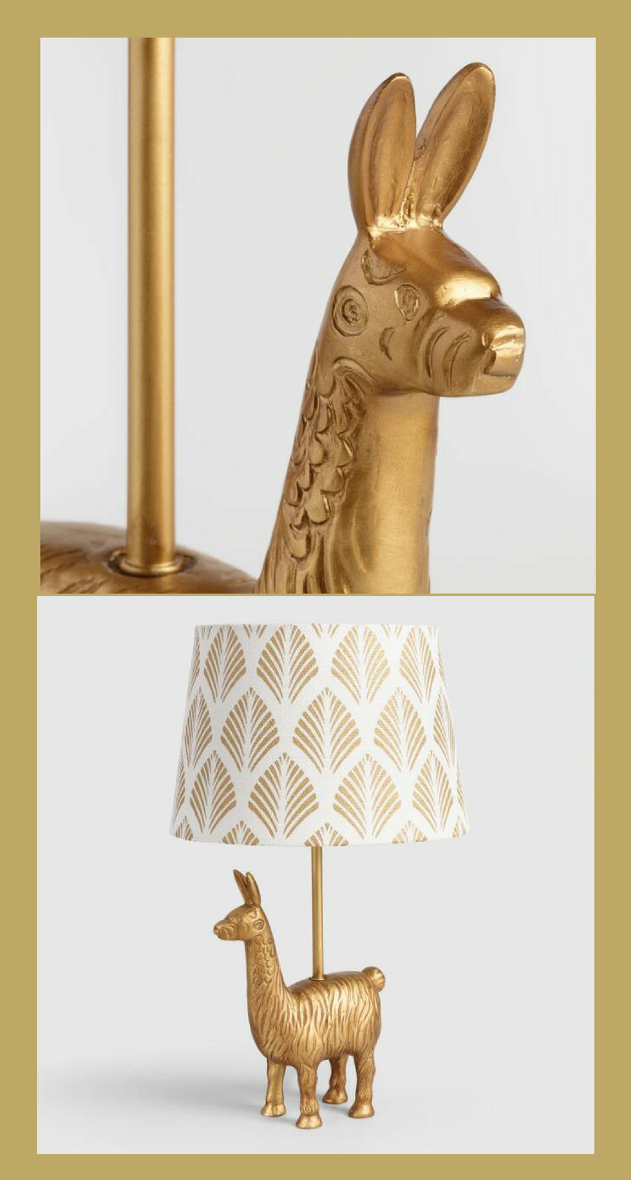 Looking For Your New Favorite Lamp No Prob Llama How About This Gold Llama Whimsical And On