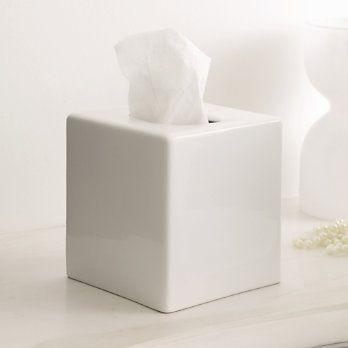 White Ceramic Tissue Holder I Sure Don T Like Ugly Kleenex Bo