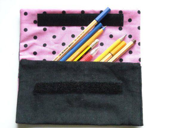 Polka dot make up/pencil case