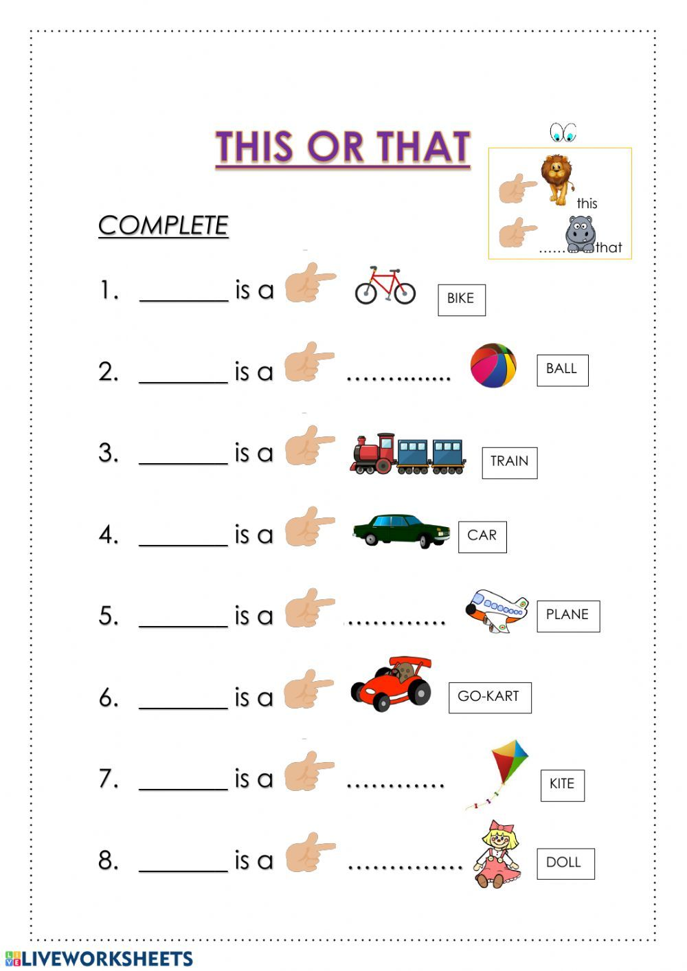 Demonstratives Interactive And Downloadable Worksheet You Ca English Language Learning Activities English Worksheets For Kindergarten English Lessons For Kids [ 1413 x 1000 Pixel ]
