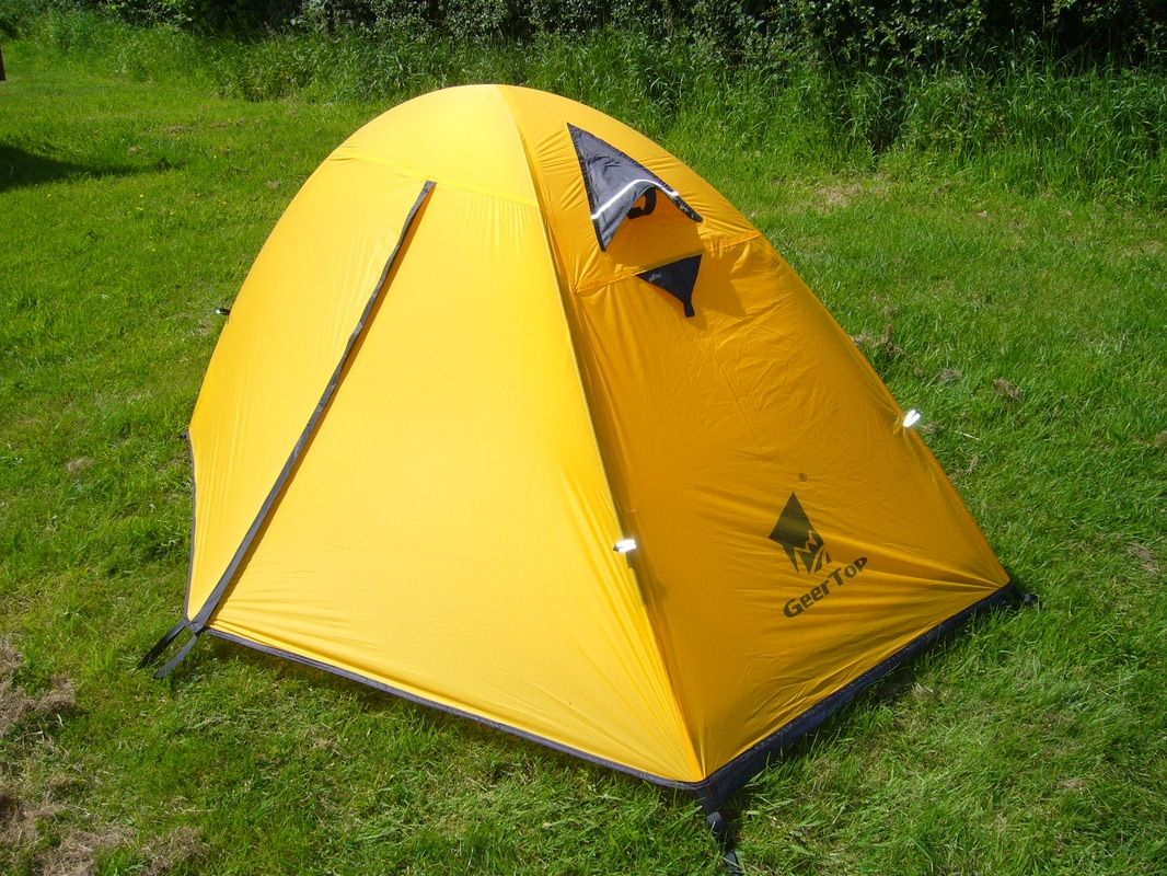 Lightweight Backpacking Tent C&ing - Topwind 1 - Yellow & Lightweight Backpacking Tent Camping - Topwind 1 - Yellow ...