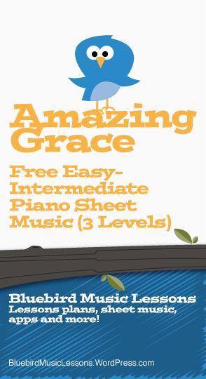 Amazing Grace Easy Intermediate Free Piano Sheet Music 3 Levels