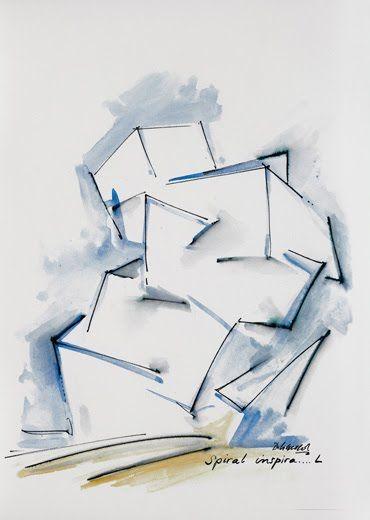 Daniel Libeskind Spiral Inspira L 2009 Ink And