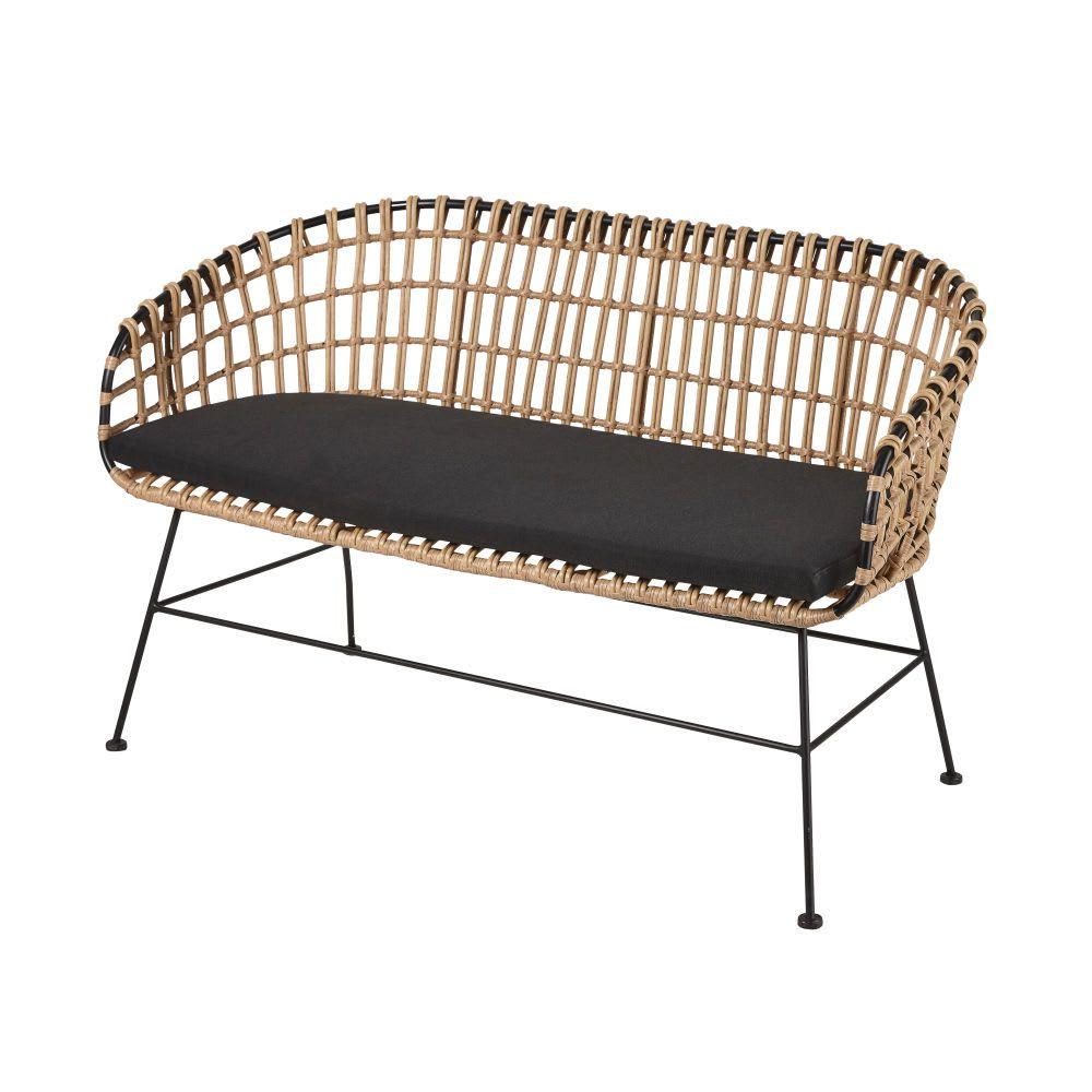Prime Rattan Effect Resin And Black Canvas Garden Day Bed In 2019 Pdpeps Interior Chair Design Pdpepsorg