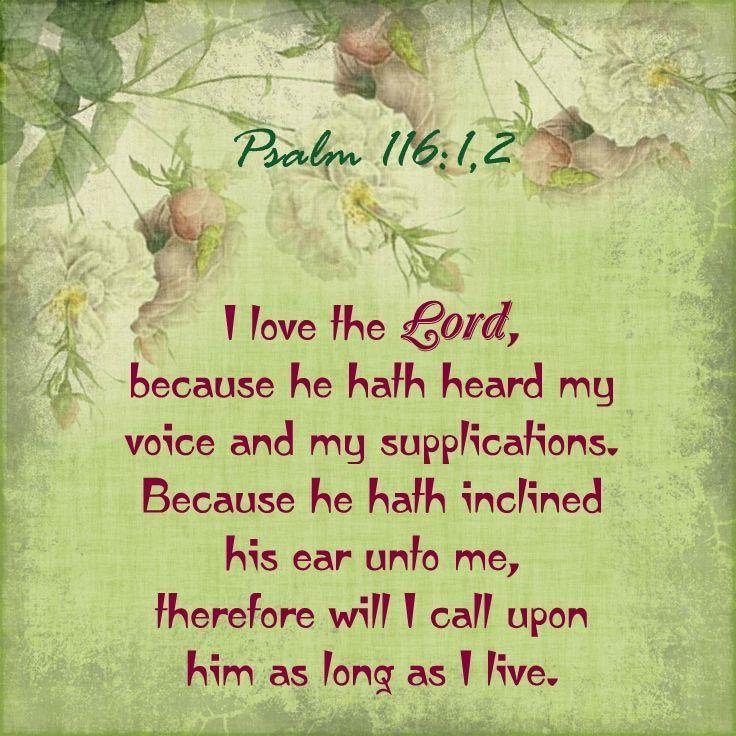 Image result for Psalm 116:1-2 kjv