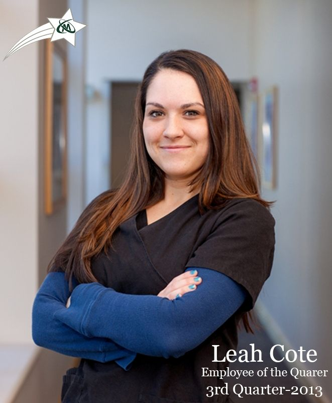 Leah Cote earned the Q3 Employee of the Quarter Award. Leah ensures all of our patients receive the #BestInOrthopaedicCare. Thank you, Leah, for all that you do!