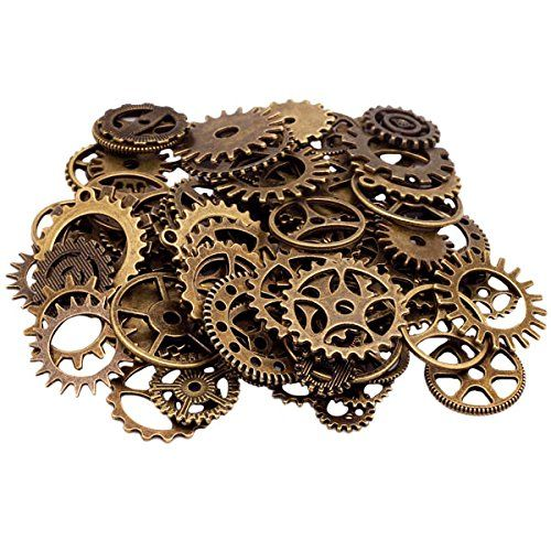 Lot 100g Antique Steampunk Gears Charms Pendant Clock Watch Wheel Gear Diy Craft Various Styles Collage Supplies