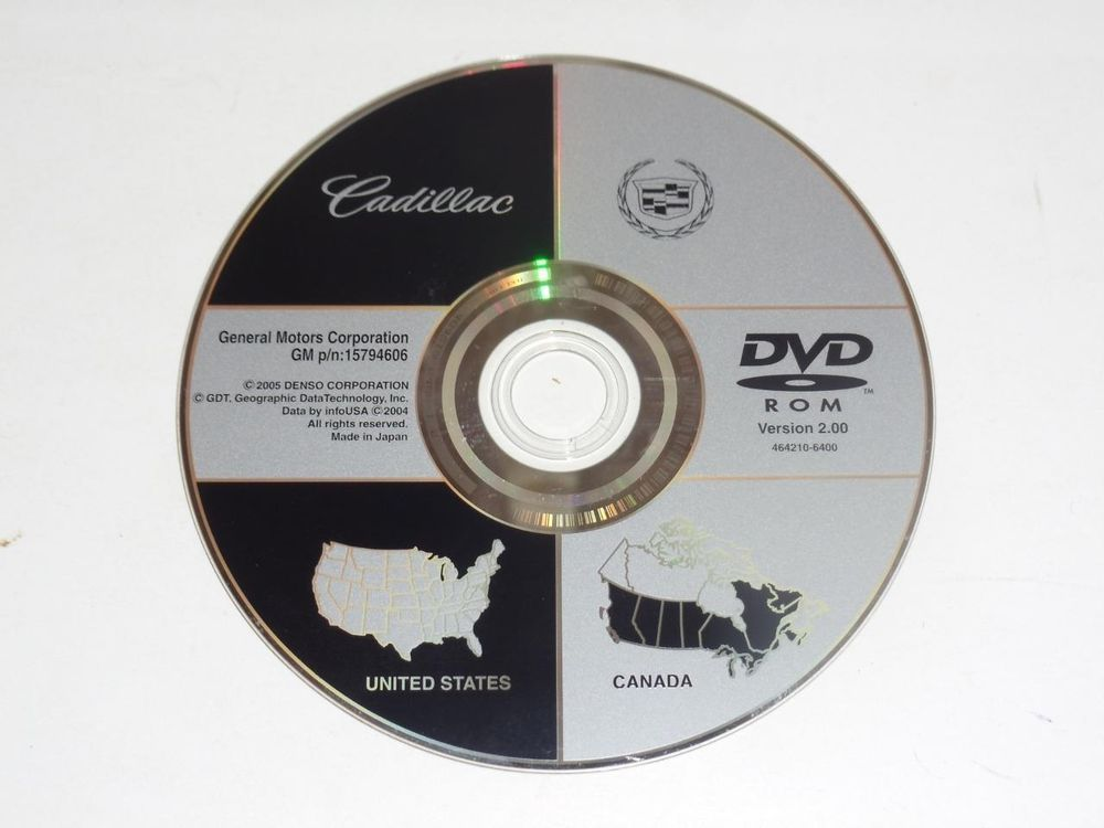 OEM GM Cadillac Navigation System Map Disc North America 15794606 ...