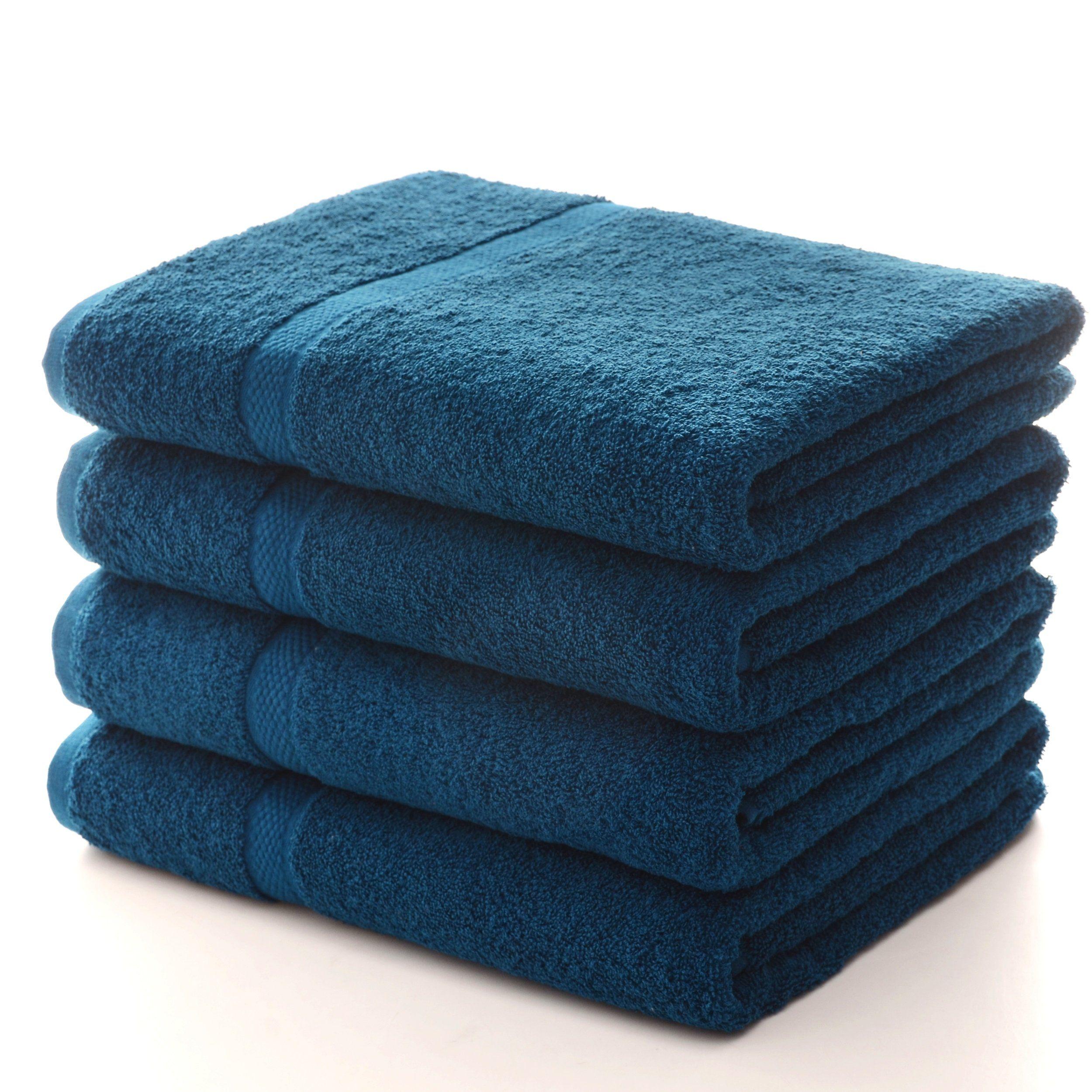 Soft Absorbent Bath Sheet Set Of 4 Multiple Color Options