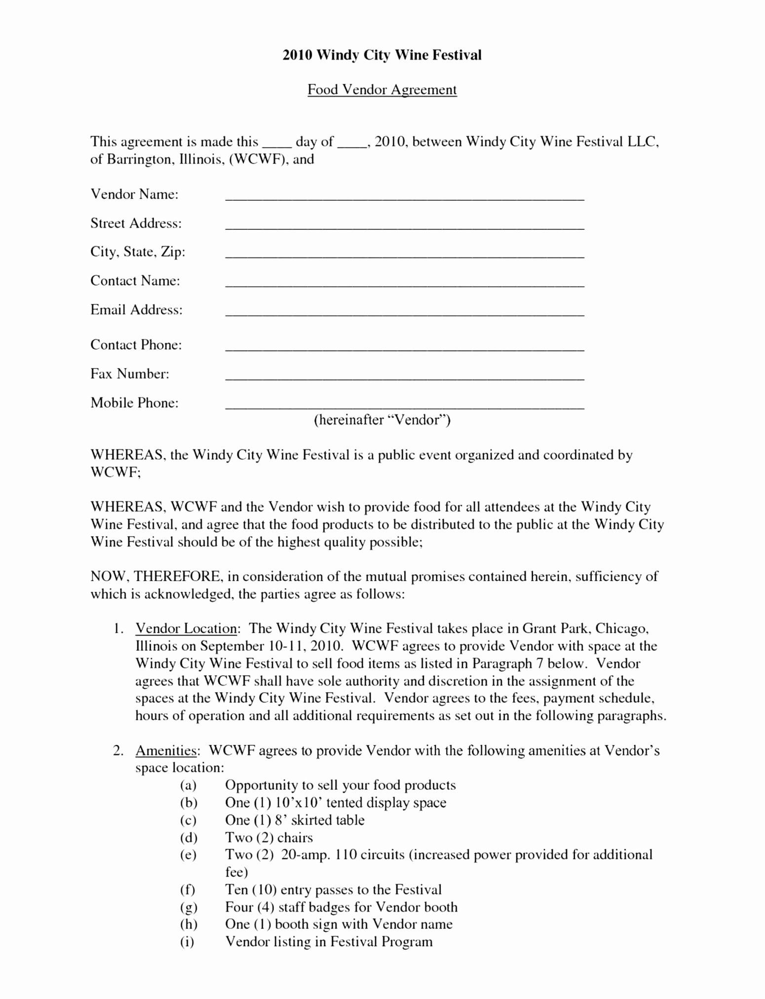 Party Rental Contract Template New Event Space Rental