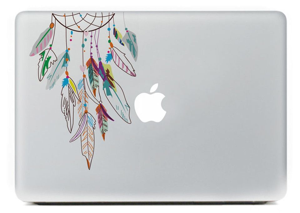 Color Dreamcatcher Laptop Sticker Home Colors And Chic - How to make laptop decals at home