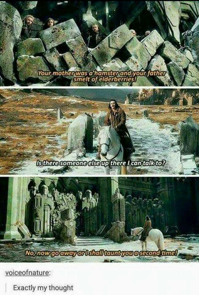 Tolkien crossovers are the best crossovers.