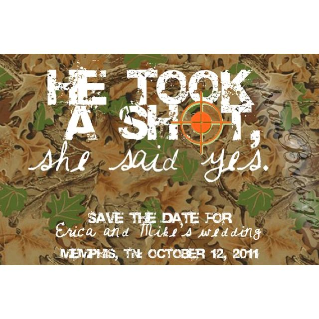 Hunting Camo Wedding Ideas: Pin By Mary Ann Sandifer On Save The Dates