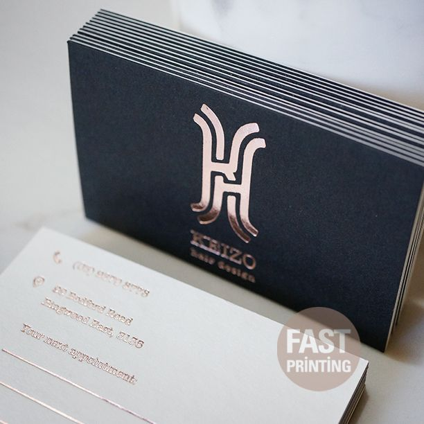 Black white doubluxe business card with rose gold foil finish black white doubluxe business card with rose gold foil finish businesscard rosegoldfoil fastprinting fpbusinesscard colourmoves
