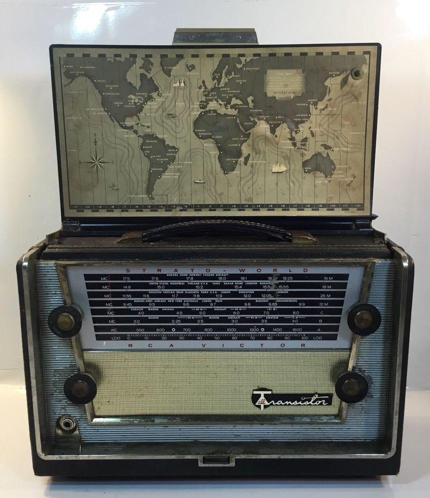 Rare Rca Victor All Transistor Multi Band Radio Model 1 Mbt 6 Parts Or Repair Radio Vintage Radio Transistors