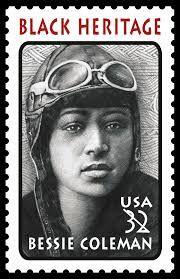 BLACK HISTORY MONTH: Bessie Coleman stamp