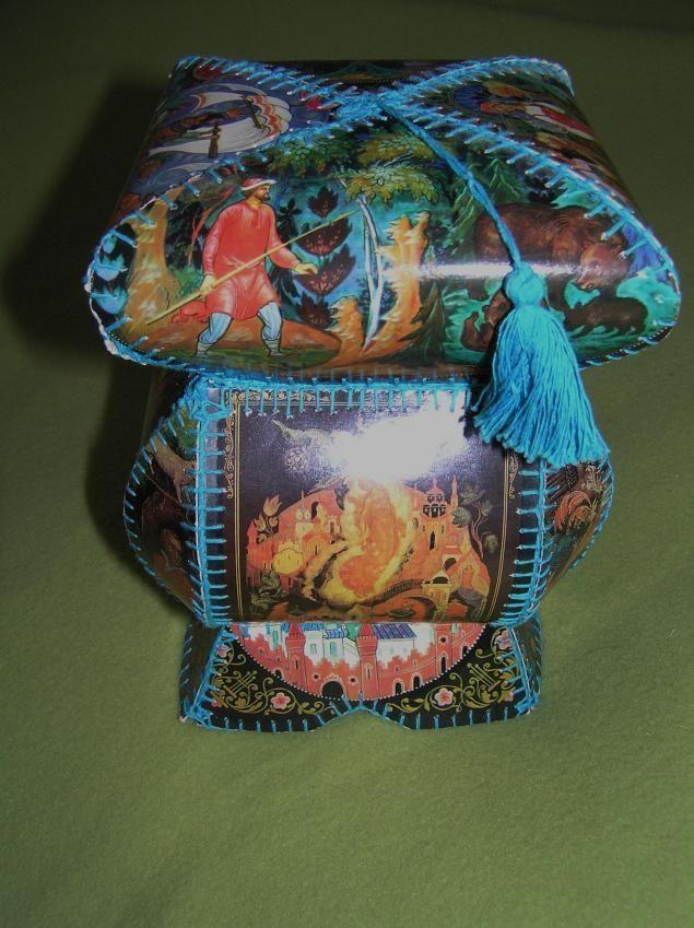 шкатулка сделанная из открыток хатидже подходтит