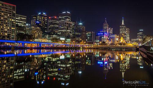 City night lights - Melbourne, Australia