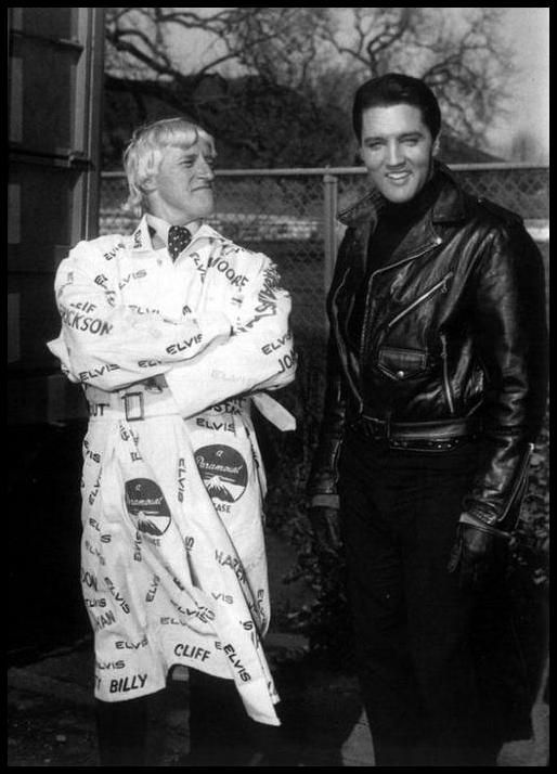 "1964 Elvis on the ""Roustabout"" movie set with Jimmy Savile who was a BBC TV presenter who died in October 2011 aged 84. Unfortunately, since his death, it has emerged he sexually abused hundreds of victims, many when they were children. Police believe Savile may be the most prolific paedophile in British history."