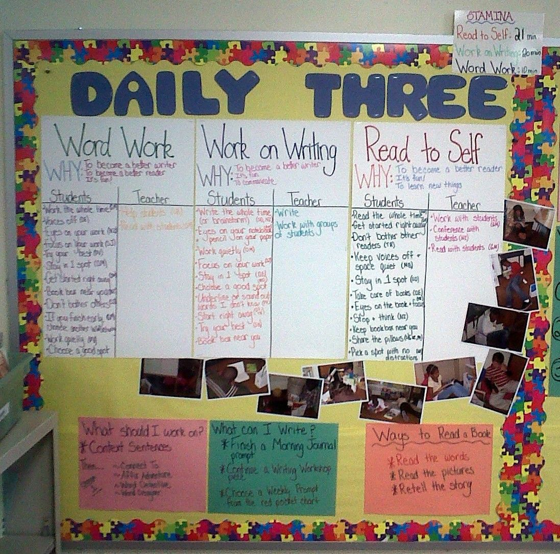 Organization Week Day 2 Literacy Aka Daily 3 Bootcamp